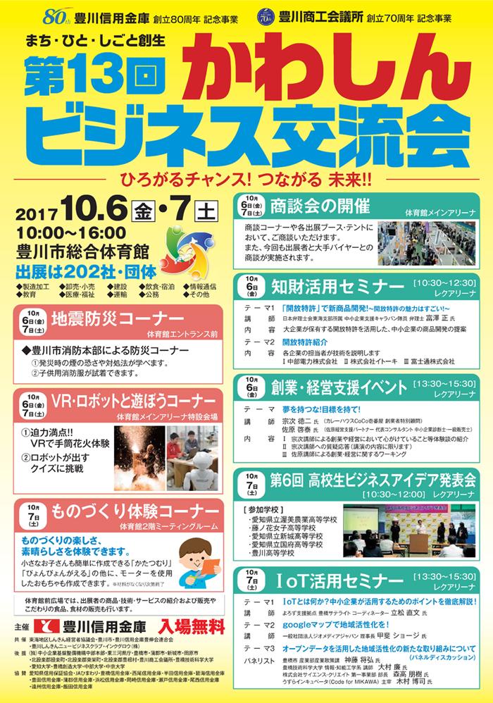 第13回かわしんビジネス交流会【ご案内パンフレット】